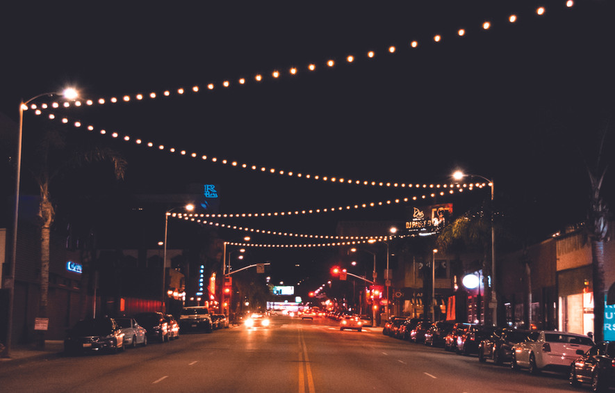Trivoli Lights over 4 lanes