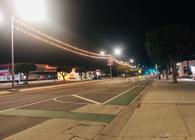 Double Swag Tivoli Lights running from W