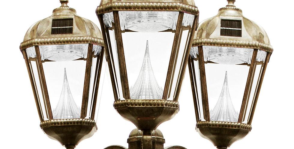Gama Sonic Triple Royal Post Lamp