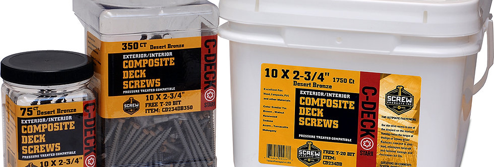 Screw Products Inc Composite Deck Screws