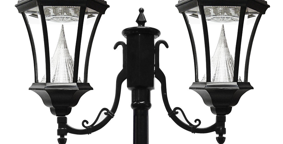 Gama Sonic Double Victorian Post Lamp