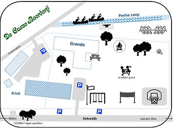 groepsaccomodatie plattegrond