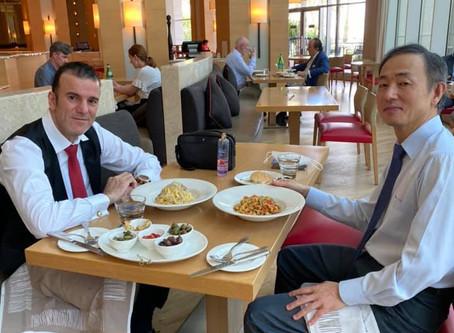 H.E Dr. Tajeddine Seif with Ambassador of South Korea to The UAE, H.E Kwon Yongwoo