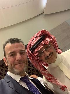 Dr. Tajeddine Seif with HH Prince Al Wal