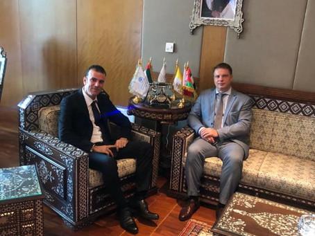 H.E Dr. Tajeddine Seif with Belarus Ambassador to The UAE, H.E Mr Andrei Luchenok