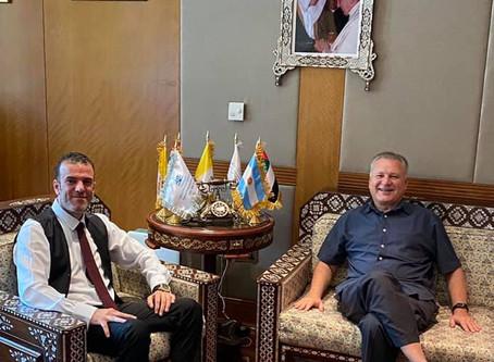 H.E Dr. Tajeddine Seif with Ambassador of Argentina to The UAE, H.E Jorge Molina Arambarri