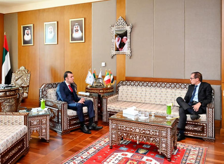 H.E Dr. Tajeddine Seif with Ambassador of Italy to The UAE, H.E Nicola Lener