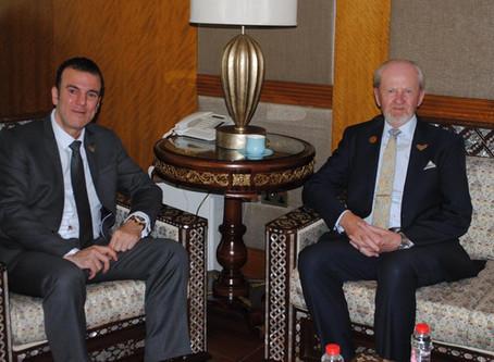 H.E Dr. Tajeddine Seif with Christer Viktorsson, Director General of FANR