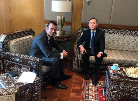 H.E Dr. Tajeddine Seif with Ambassador of the Republic of South Korea to the UAE H.E. Kwon Yong-woo