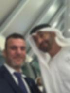 Dr. Tajeddine Seif  with HH Sheikh Moham