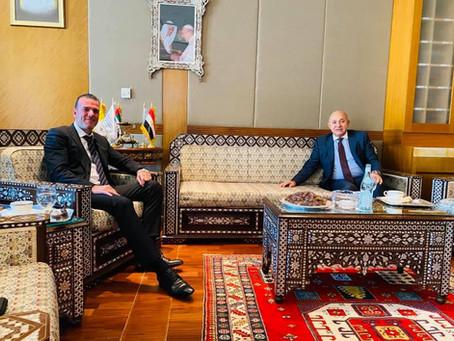 H.E Dr. Tajeddine Seif With H.E Sherif El Bidewy - Ambassador of Egypt to the UAE