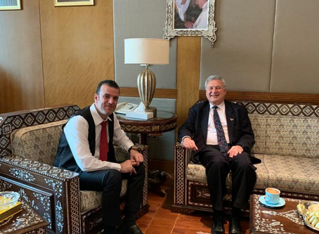 H.E. Dr. Tajeddine Seif with Ambassador of Argentina to the UAE H.E Agustin Arambarri