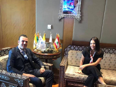 H.E Dr. Tajeddine Seif With H .E Joelle Antoun - Charge d'Affairs of The Lebanese Embassy to The UAE