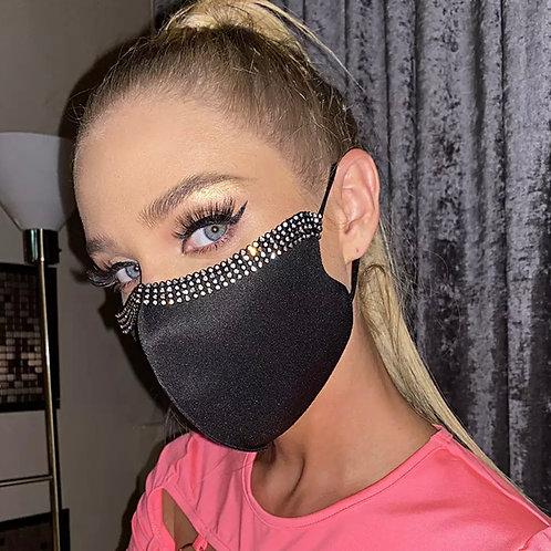 Black Rhinestone Mask