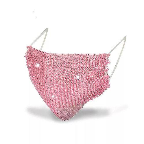 Rhinestone Mask  •  [Red & Pink]