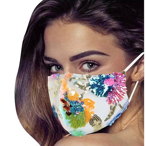 Festive Sequin Mask