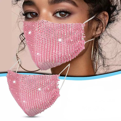 Blingy Color Sequined Mask