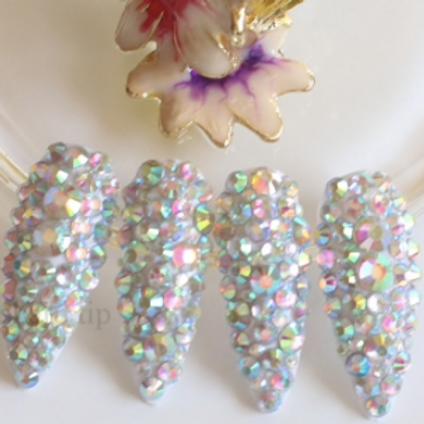Crystal Diamond Oval Nails