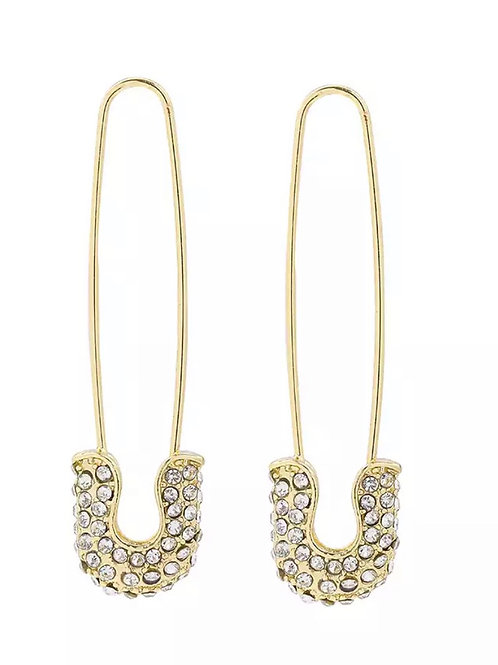 Safety Pin Stud Earring