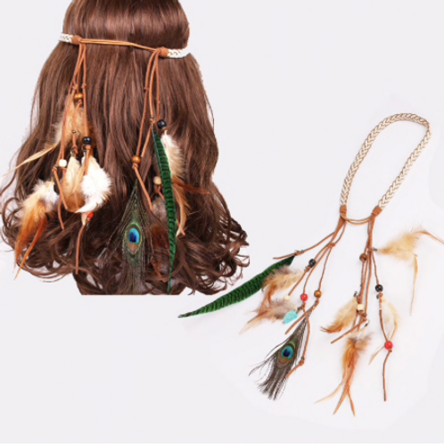 Indian Feather Headdress Hair Accessory