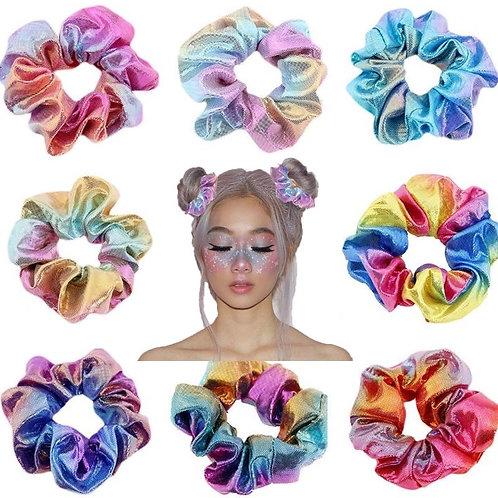Glitter Bronzing Rainbow Scrunchie