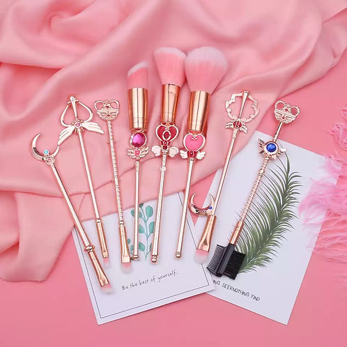 8PC Pretty Sailor Moon MakeUp Brushes
