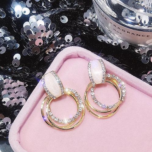 Classy Crystal Hoop Earrings