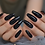 Thumbnail: Classic Black Coffin Stiletto Shaped Nails