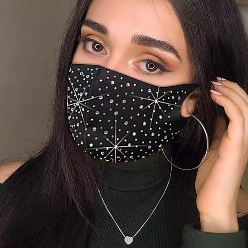 Superstar Rhinestone Mask