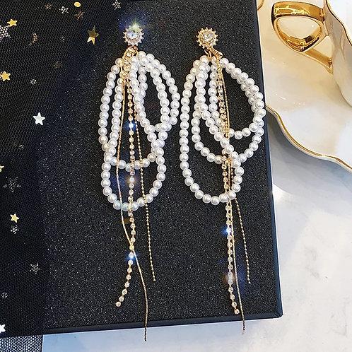 Pearl Water Drop Earrings