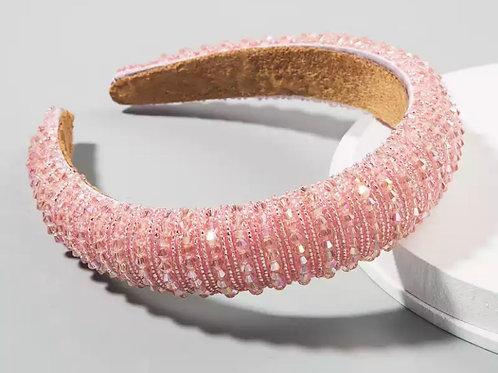 Luxury Pink Rhinestone Headband