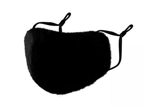 Black Fuzzy Fur Mask