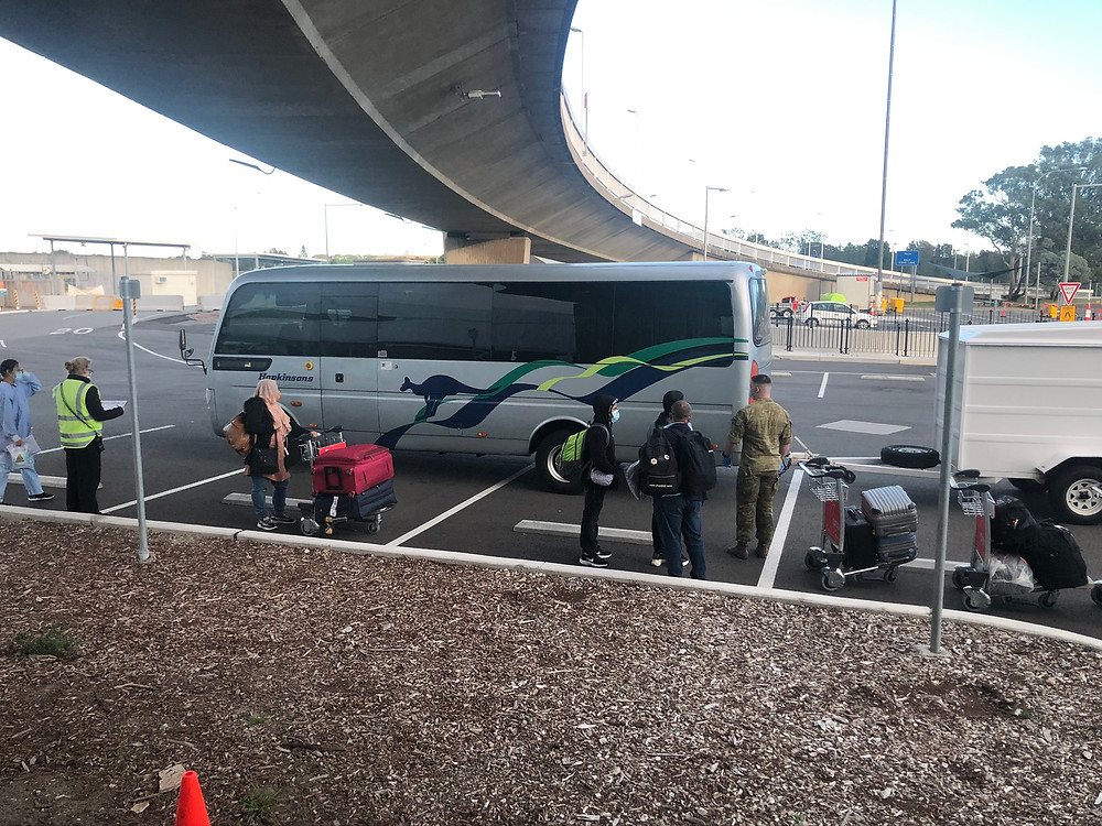 """I believe this bus was for people who failed the health check and were taken to either a """"Hot Hotel"""" or the Hospital."""