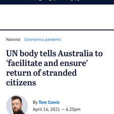UN body tells Australia to