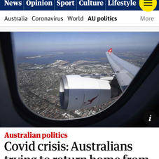 Covid crisis: Australins trying to return home