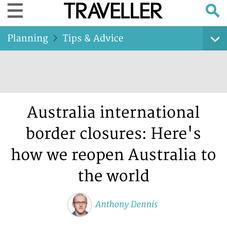 Australia international border closures: