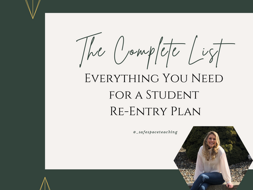 The Complete List of Everything You Need for a Student Re-Entry Plan
