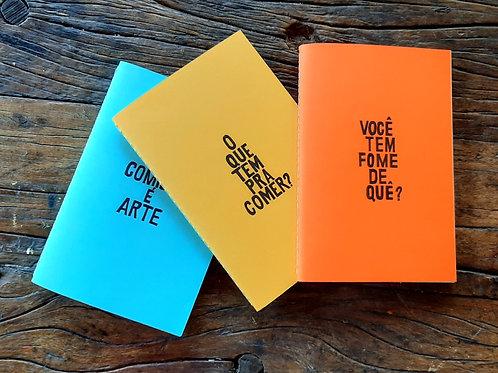 "Kit cadernetas ""Comer é"""