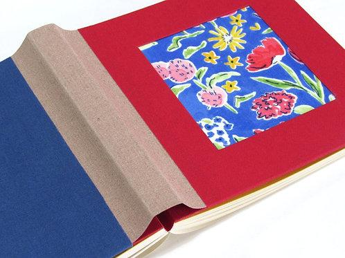 Emoldurado vermelho e royal