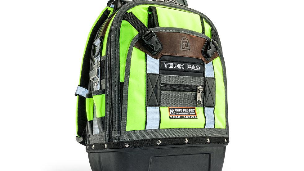 Tech Pac Hi-Viz Yellow Backpack Tool Bag