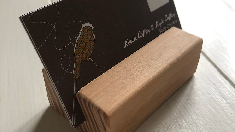 Block Style Place Card Holder