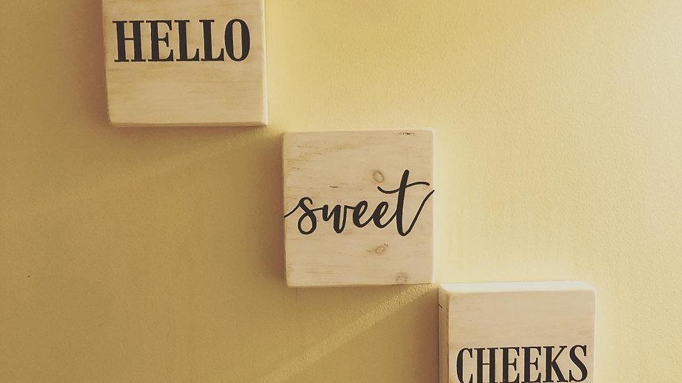 """Hello Sweet Cheeks"" Bathroom Set"