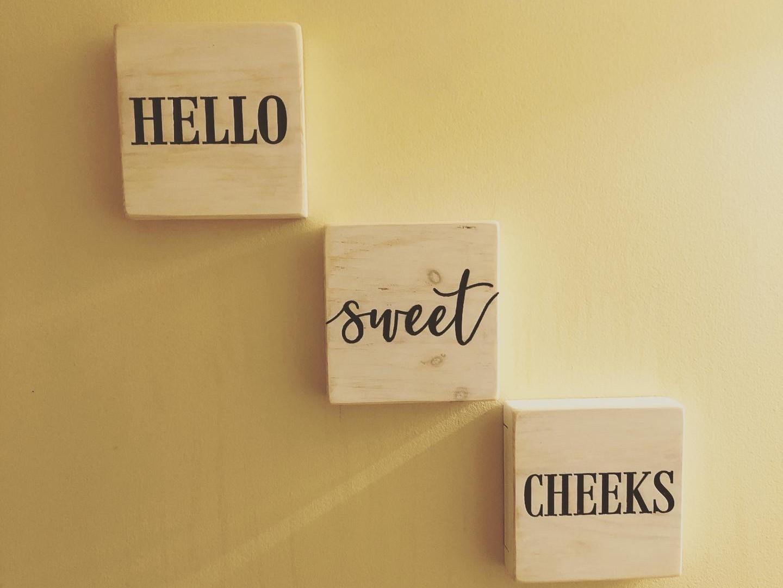 """Hello Sweet Cheeks"""