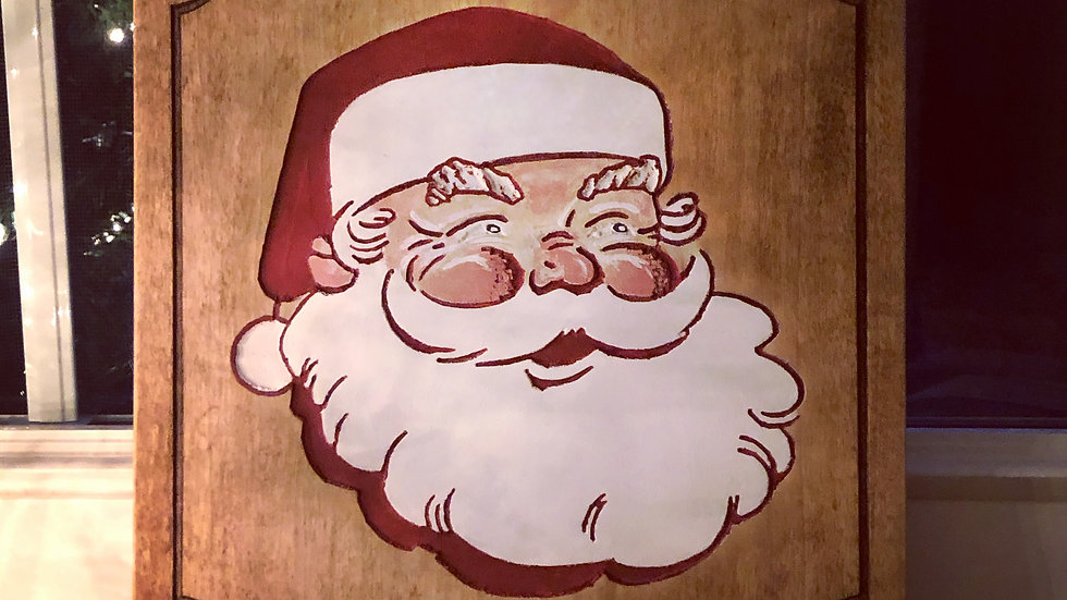 Santa Smile Sign