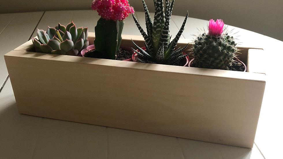 Rustic Pine Planter Box (Large)