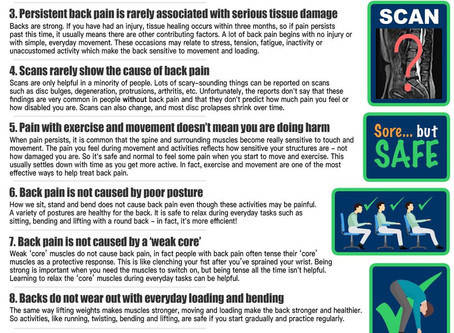 Back to basics: 10 facts every person should know about back pain