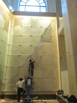 Waldorf Astoria during installation  Ph.