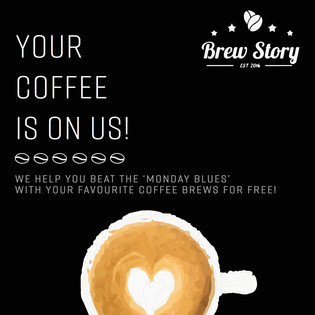 Your Coffee Is On Us