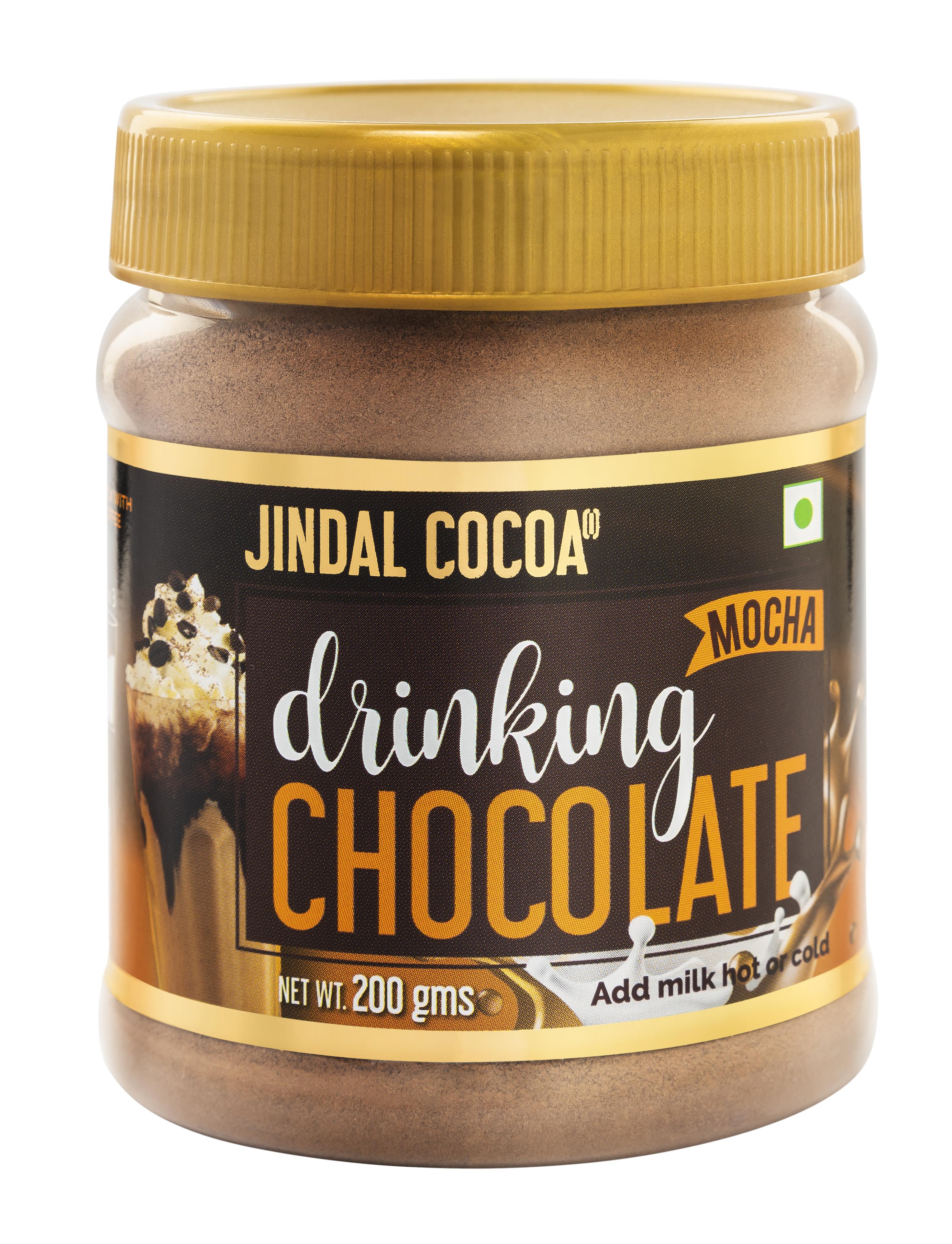 Mocha drinking chocolate