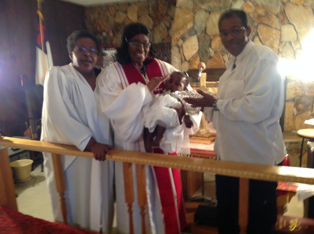 Kendra Baptism, Pastor Sis Cyn Grndm